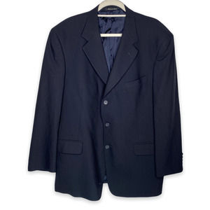 Men's Murano Italian 100% Wool Blazer Jacket 44